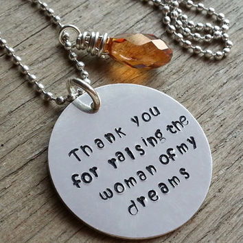 SALE Wedding Mother In Law Gift, Mother in Law Christmas Gift, Mothers Day Gift, Thank You For Raising The Woman Of My Dreams, Mother In Law