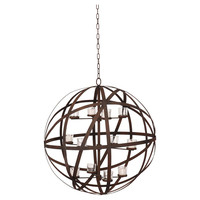 Chester Rustic Chandelier, Dark Brown, Ceiling Chandeliers