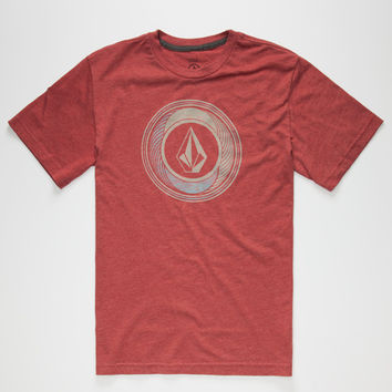 Volcom Sprinkler Stone Boys T-Shirt Burgundy  In Sizes