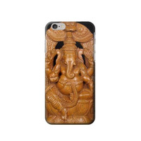 P1328 Hindu God Ganesha Wood Caving Graphic Printed Phone Case For IPHONE 6S PLUS