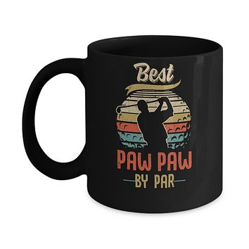 Vintage Best Paw Paw By Par Fathers Day Funny Golf Gift Mug