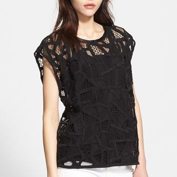 Women's IRO Embroidered Lattice Top