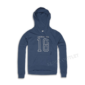 Abercrombie & Fitch Hoodie Pullover Sweatshirt Blue