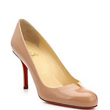 Christian Louboutin - Sophia Regina Notched Patent Leather Pumps - Saks Fifth Avenue Mobile