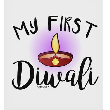 """My First Diwali 9 x 10.5"""" Rectangular Static Wall Cling by TooLoud"""