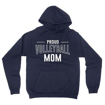 Proud volleyball mom team squad game day sport mom love volleyball  Mother's day hoodie