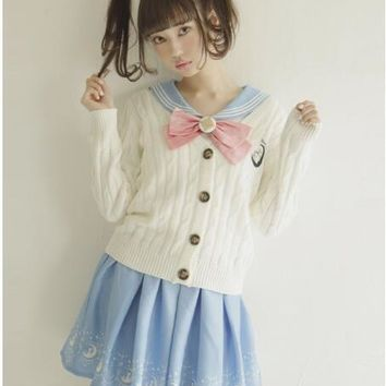 2017 Summer Cute Girls Skirts Anime Sailor Moon 20th Anniversary Skirt Cat Lolita Kawaii Sweet Skirts Women Clothes Preppy Style