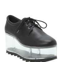 Black & Clear Platform Shoes