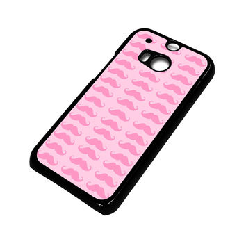PINK MOUSTACHE HTC One M8 Case Cover