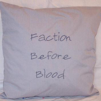 Divergent Inspired, Faction Before Blood: Abnegation, Throw Pillow
