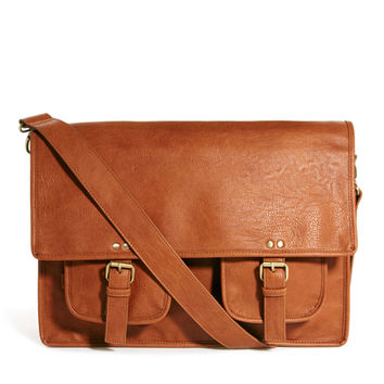 ASOS | ASOS Satchel With Double Pocket at ASOS