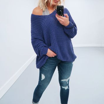 Restock: The Kelsey Sweater: Grape