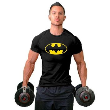 Batman Dark Knight gift Christmas Batman Mens Shirts Muscle Golds Brand Fitness men Bodybuilding Workout Clothes Cotton gyms Sporting T Shirt Men plus size top AT_71_6