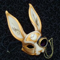 March-of-Time Hare V12... leather clockwork rabbit mask
