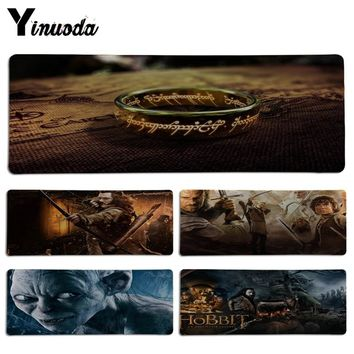 Yinuoda The Lord of the Rings Laptop Computer Lockedge Mousepad Size for 30x90CM Speed Version Gaming Mousepads