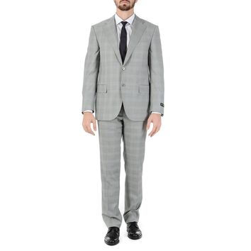 Corneliani Mens Suit Long Sleeves Grey Super 150's