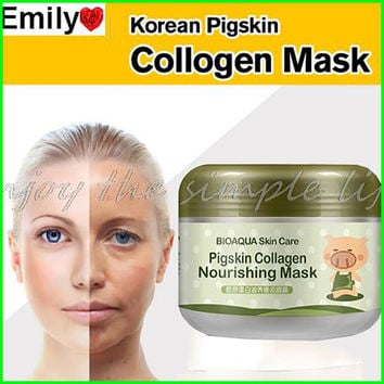 Korean Collagen Pig Skin Face Mask 100g Anti Aging Cream Anti Wrinkle Magic Facial Mask Ageless Products Korean Cosmetics