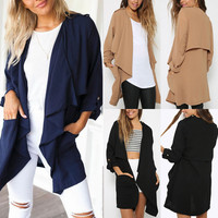 Zanzea 4-24W Fashion Women Long Coat Jacket Trench Windbreaker Outwear Cardigan