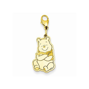 Sterling Silver Or Yellow Gold Plated Disney Winnie The Pooh Lobster Clasp Charm