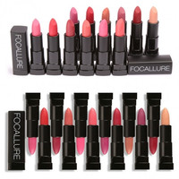 12 Colors Matte Lipsticks Makeup Cosmetic Smudge Proof Long-lasting Lip Stick