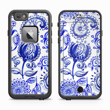 Royal Blue Paisley Flower Skin for the Apple iPhone LifeProof Fre Case