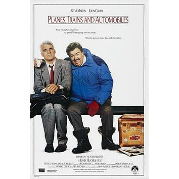 Planes Trains And Automobiles Movie poster Metal Sign Wall Art 8in x 12in