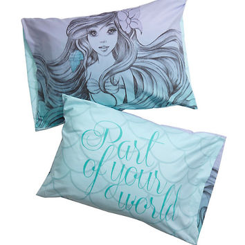 Disney The Little Mermaid Sketch Ombre Pillowcases
