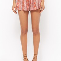 Floral Ornate Smocked Shorts