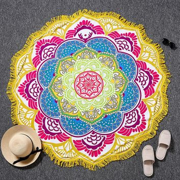 Indian Bohemian Mandalas Tapestry Totem Lotus Wall Hanging Sandy Beach Towels Yoga Mat Blanket Camping Mattress Bikini Cover Up