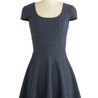 ModCloth Short Length Cap Sleeves A-line New Internship Dress
