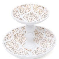 Tray Chic Jaipur Ring Holder - Womens Scarves - White - One