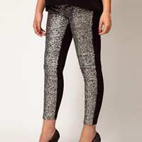 ASOS CURVE Leggings With Embellished Panels at asos.com