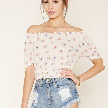 Daisy Print Top | Forever 21 - 2000176124