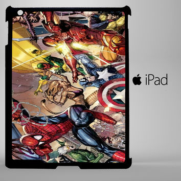 Marvel Superheroes Sticker Bomb DC Comics A0116 iPad 2, iPad 3, iPad 4, iPad Mini and iPad Air Cases - iPad