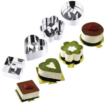 Stainless Steel Cookie Cutter Mousse Ice Cream Cake Mold Cutter Sushi Maker NEW