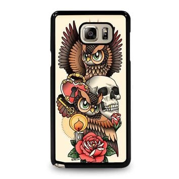 OWL STEAMPUNK ILLUMINATI TATTOO Samsung Galaxy Note 5 Case Cover