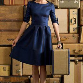 Puff Sleeve Nutcracker Dress