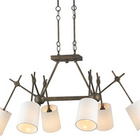 Compass Rectangular Chandelier design by Currey & Company