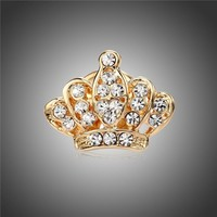 MISANANRYNE New Arrivals Crystal Brooch Jewelry Crown Brooches Pins For Women Shirt Collar Broches