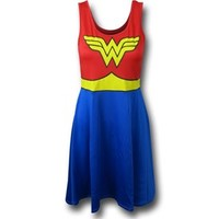 Wonder Woman A-Line Scoop Neck Dress
