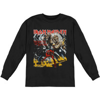 Iron Maiden Men's  NOTB  Long Sleeve Black