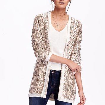 Old Navy Womens Fair Isle Sweater Jacket