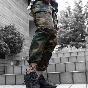 High Quality Men's Cargo joggers Pants Military for Men multi pocket Overalls tactical Army Trousers Camouflage fashion