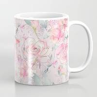 floral blush Coffee Mug by sylviacookphotography