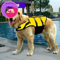 PetSafe Fido Float Dog Refective Vest for Safety Pet Clothes Yellow Life Jacket for Summer clothing Puppy Dog Car Pet Supplies