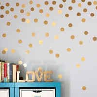 2016 Hot Sale Stylish Gold Dots Wall Sticker Round Dot Pattern Decal Home Interior Decoration for Living Room Bedroom
