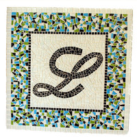 Monogram Mosaic, Name Art, Wall Hanging