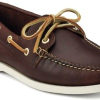 Sperry Top-Sider Authentic Original Boat Shoe by Made in Maine MahoganyLeather, Size 6M  Women's Shoes