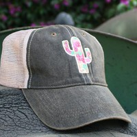 Cactus Rose Hat - Vintage Black