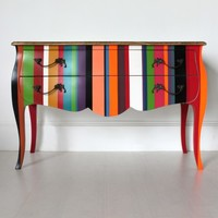 French Stripy Chest of Drawers